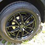 Bremssattel schwarz hinten